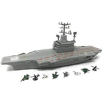 Aircraft Carrier with Jet Lights and Sound