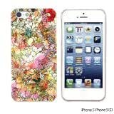 OnlineBestDigital - Flower Pattern Hardback Case for Apple iPhone 5S / Apple iPhone 5 - Colorful Watercolor Flower