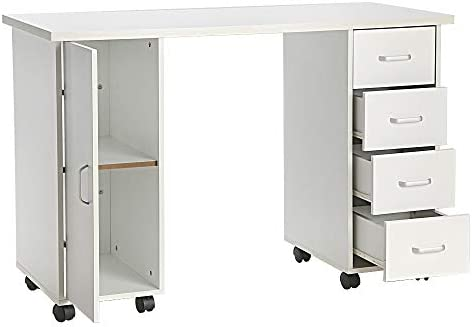 Amazon.com : FCH Portable Manicure Table Station with 4 Drawers a ...
