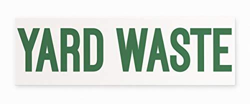Yard Waste Vinyl Sticker by Blue Giraffe Inc   10
