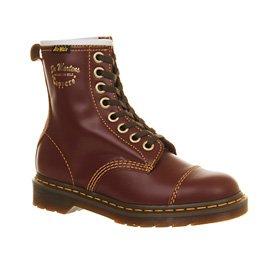 Dr. Martens - Botas para mujer Rojo - Oxblood Vintage Leather