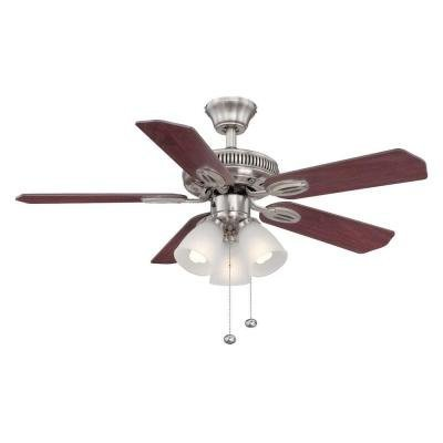 Cheap Hampton Bay Glendale 42 in. Brushed Nickel Ceiling Fan – Reversible Blades