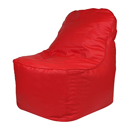 Skyshot Video Rocker Lounger/Recliner Bean Bag Cover Without Beans  Red, XL