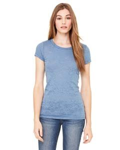 - Bella Ladies' Bernadette Burnout T-Shirt 8601, Medium, Steel Blue