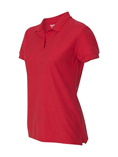 Gildan womens DryBlend 6.3 oz. Double Pique Sport Shirt(G728L)-RED-3XL