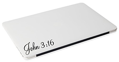 Laptop MAC – John 3:16 religious apple macbook funny decal – matte black skins stickers