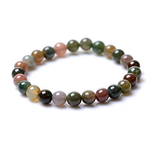 ZHONGPAI Handmade Natural Energy Bracelet Link Wrist Agate Bracelet for Male and Female ()