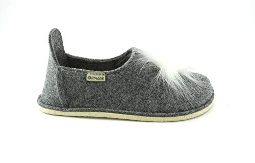 in per grigio grigio Pa0510 feltro le donne Pantofole Grunland Gaur qZPwWw0H