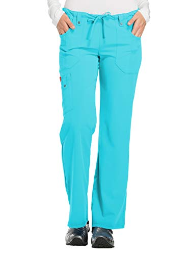 (Dickies Women's Plus Size Petite Jr. Fit Mid-Rise Drawstring Cargo Pant, ICY Turquoise 3X-Large)