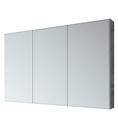 "Fleurco MCT4836B-11 Luna 48"" Wall Mount Recessed Triple Door Mirror Medicine Cabinet in Chrome With Edge Profile: Bevel"