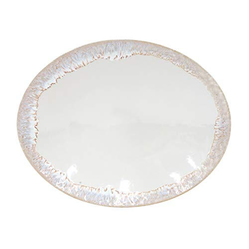 Platter Oval Event - Casafina Taormina Collection Stoneware Ceramic Oval Platter 16.25