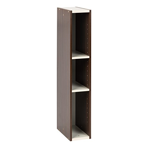 IRIS USA, UB-9015, Slim Space Saving Shelf with Adjustable Shelves, 6 x 34