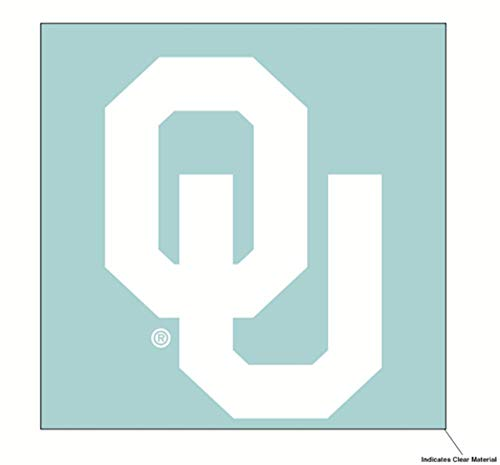 NCAA University of Oklahoma Sooners 6 x 6 inch White Decal ()