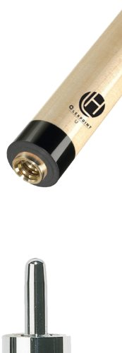 Shaft Uni Loc Black Collar (Lucasi Hybrid 11.75mm Zero Flex Slim Technology Pool Shaft, 30-Inch Black Collar, Uni-loc Pin)