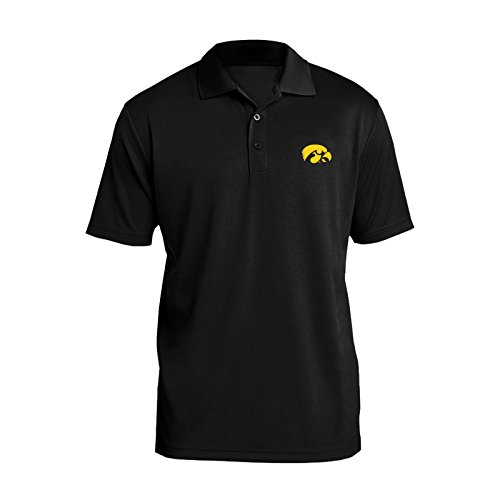 Logo Print Polo - AP07 - Iowa Hawkeyes Primary Logo Left Chest Mens Polo - Large - Black