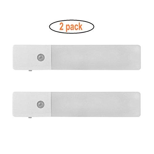 GuDoQi 2 Paquetes Luz Recargable De La Noche Del Gabinete Sensor De Movimiento 3 Modelos Luz De Pared Del Led Batería De...
