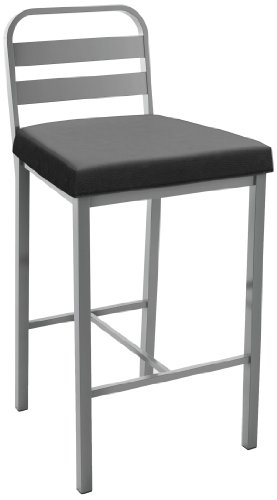 (Amisco Industries Alberto Swivel Stool, 40.5-Inch, Magnetite)