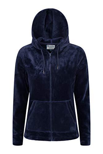 Mountain Warehouse Forro Polar con Capucha Snaggle para Mujer Azul Marino