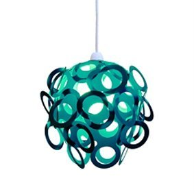Teal Funky Loopy Lampshade: Amazon.co.uk: Lighting:Teal Funky Loopy Lampshade,Lighting