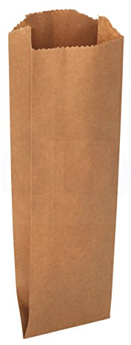 MT Products Pint Size Kraft Brown Paper Bag - 50 pcs (Bottles Beer Quart)