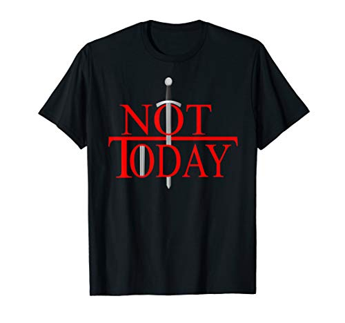 Not Today What Do We Say To The God Of Death? Funny T-Shirt (Heather Black Death Christmas 2019)