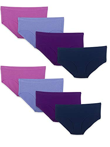 Fruit of the Loom Women's Underwear Breathable Panties (Regular & Plus Size) Colors May Vary, Hipster, 5, Cotton Mesh - 8 Pack - Hipster