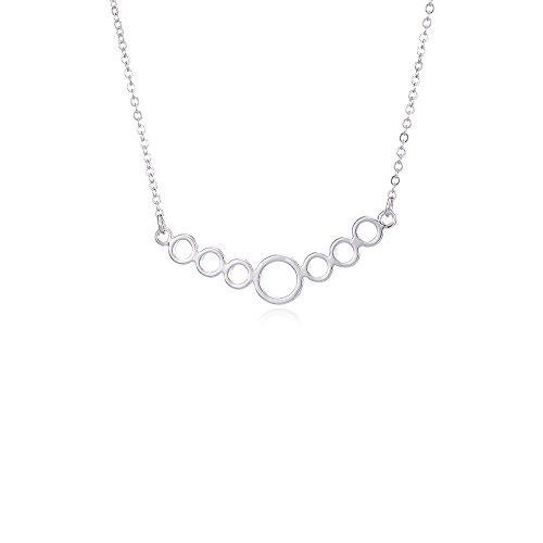 Elegant Circle/Heart Shape/Water Drop Bunch Pendant Necklace (Circle)