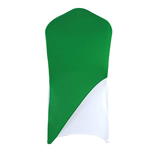 banquetbay Chair Cap Covers Bands (Forest Green, 100pcs)