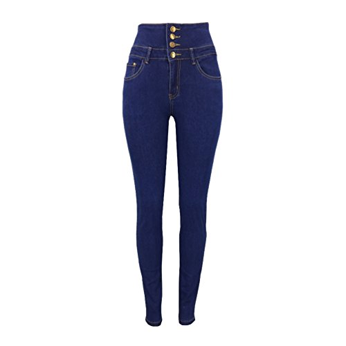 Jeans Denim Sentao In Pantaloni Leggings Skinny Jeggings Stretch Lunghi Blu Elastico Donna Matita Ywq6xq0rI