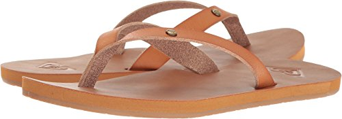 Roxy Women's Jyll Sandal Flip Flop, Tan, 7 M (Brown Flip Flop)