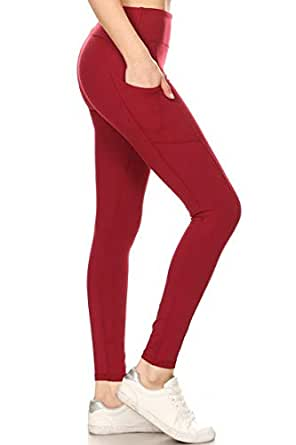 e9908af732a2a Leggings Depot High Waisted Leggings -Soft & Slim - Solid Colors ...