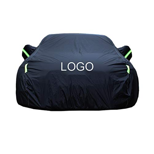 Color : Black Compatible with Audi Q3 40 TFSI Quattro Off-Road Car Cover Waterproof Breathable Thick Sun Protection Rain Tarpaulin Canvas
