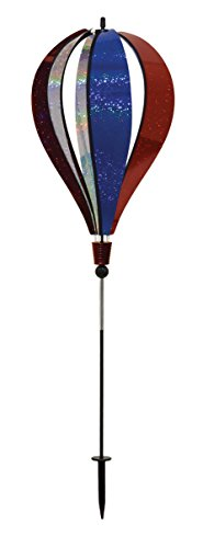 (In the Breeze Patriot Sparkler 6-Panel Hot Air Balloon Ground Spinner)