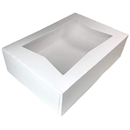 (Multiple Size and Color Options - 6 Superior Quality Bakery Take Out Cake and Cookie Boxes with Display Window- (14