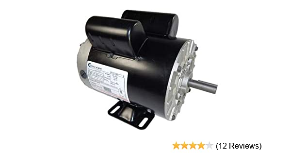 2 HP SPL 3450 RPM M56 Frame 115/230V Air Compressor Motor - Century Century Ac Motor Wiring Part on