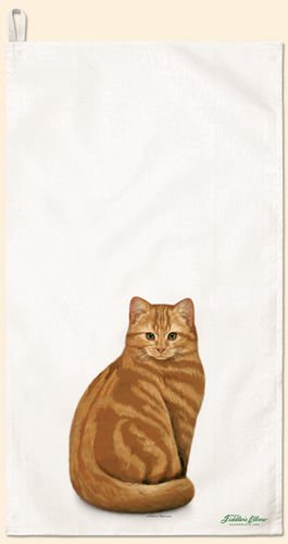 Fiddler's Elbow Orange Tabby CAT Towel