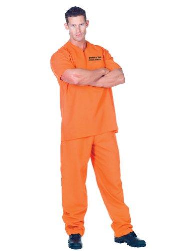 Underwraps Public Offender Convict Adult (Mens Convict Costume)