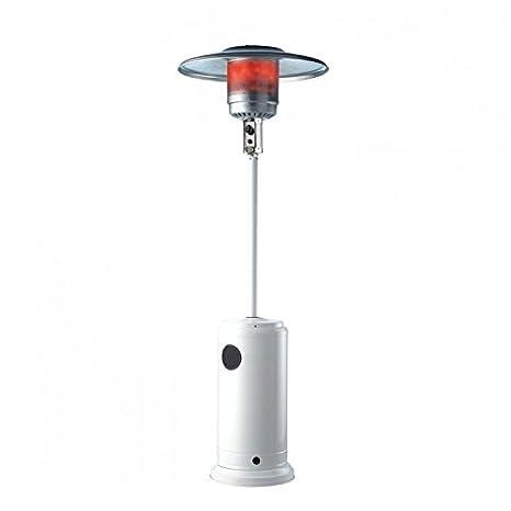 Estufa/seta para exterior a gas butano con ruedas Blanca - Mod. Patio: Amazon.es: Hogar