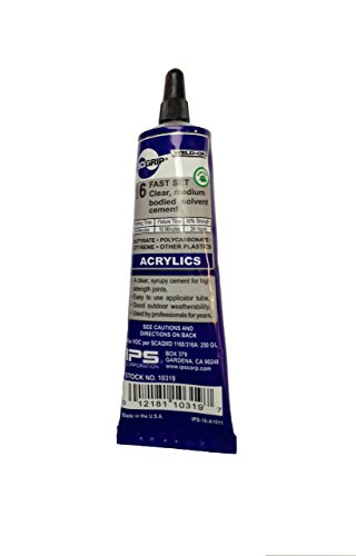 SCIGRIP 16 10319 Acrylic Cement, Low-VOC, Medium bodied, 1.5 Fl. Oz Tube, Clear