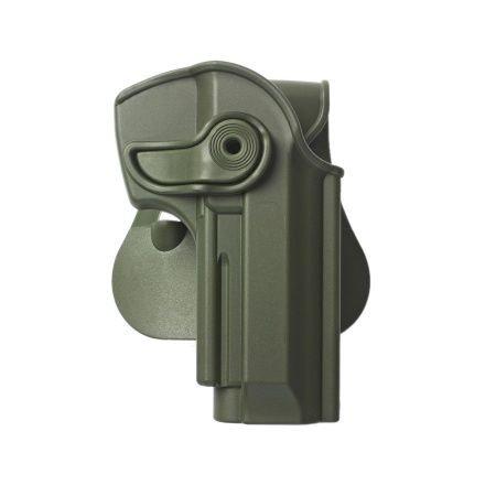 Beretta Cheetah 85FS Polymer Retention Holster Green and a genuine IGWS's firing range earplugs kit.