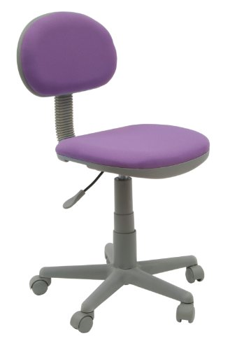 Calico Designs Deluxe Task Chair in Purple with Gray Base 18516