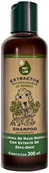 Petlab Extractos, Shampoo Neutralizador de Odores para Cães, Erva Doce, 300ml Petlab Extractos para Cães
