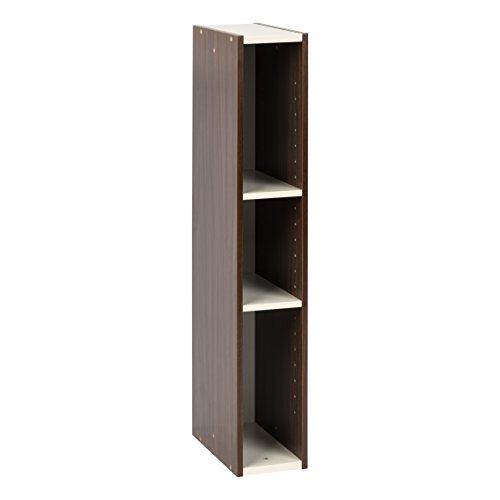 "IRIS 5 x 34"" Slim Space Saving Shelf, Walnut Brown"