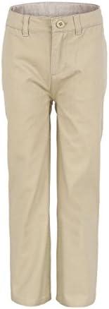 Bienzoe Boy's School Uniforms Cotton Twill Adjust Waist P