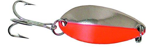 Acme C180-NFS Little Cleo Spoon, 0.12 oz., Nickel Fluorescent Orange Stripe ()