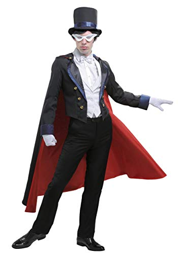 Men's Sailor Moon Tuxedo Mask Costume Large Black]()