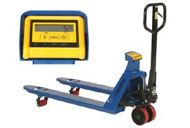 Pallet Jack Scale Truck with Weight Indicator, 27 x 48, 4400 Lb. Capacity