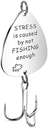 Haoze Fishing Lure Hook for Dad from Daughter Always Your Little Girl Dad's Birthday Gifts Fishing Hook fo