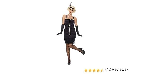 Smiffys - Disfraz para mujer, Flapper, años 20, Negro, XL (48-50 ...