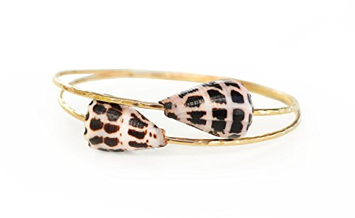 Hebrew Cone Shell Bangle - Gold or Silver (Hawaii Cone Shell)